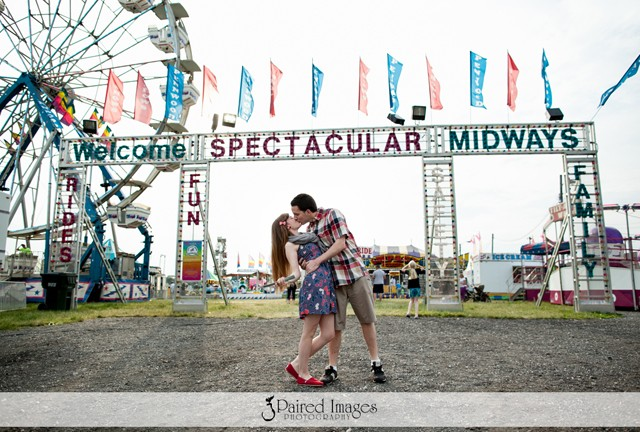 Christina and Andrew at the Carnival
